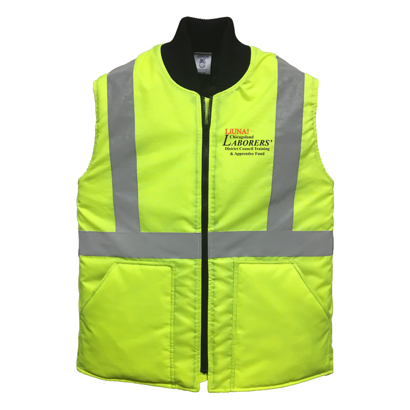 LiUNA Chicagoland District Council Training and Apprentice Fund high visibility insulated vest