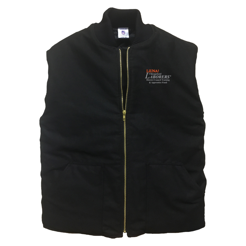 LiUNA Chicagoland District Council Training and Apprentice Fund quilted insulated vest
